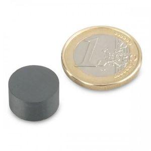 AIMANTS - MAGNETS Disque Ø 14 x  8mm Ferrite Y30 sans placage adhére
