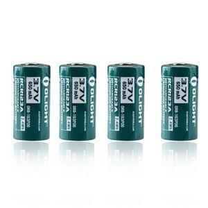 PILES 4 Piles Rechargeables RCR123A 16340 650mAh / Batte