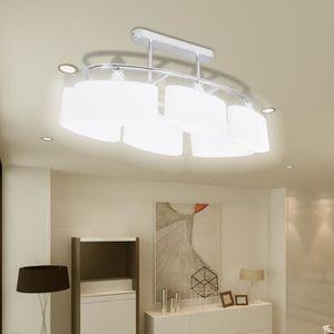 LUSTRE ET SUSPENSION Lustre/Lampe de Plafond moderne en métal avec 6 Ab