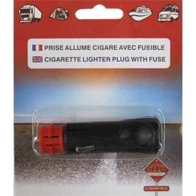 Prise allume-cigare avec 2 embouts type procar - Noir