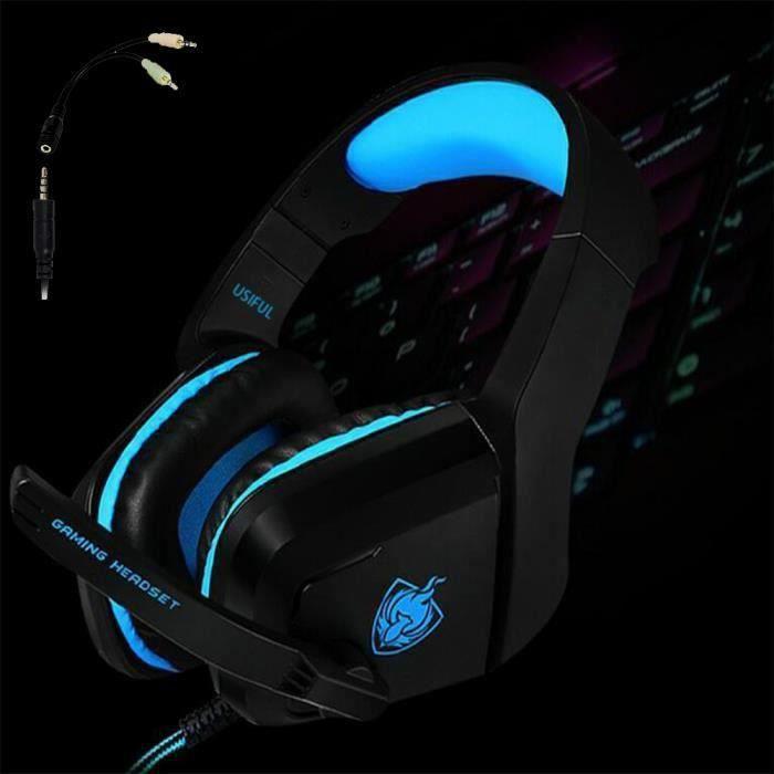Gaming casque micro pour PS4, nouvelle xbox manette,Nintendo 3DS, PSP,ordinateur portable et PC-casque filaire antibruit avec micro