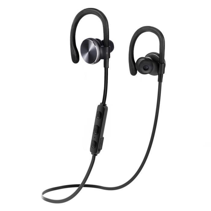 Casque Bluetooth Coulax Cx06 Ecouteurs Stéréo Oreillette Sans Fil Anti-sueur Pour Sports Avec Micro (bluetoot...