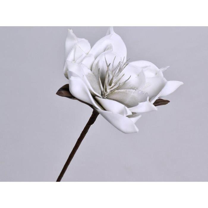 Fleur Artificielle En Mousse Blanche Grise Achat Vente Fleur