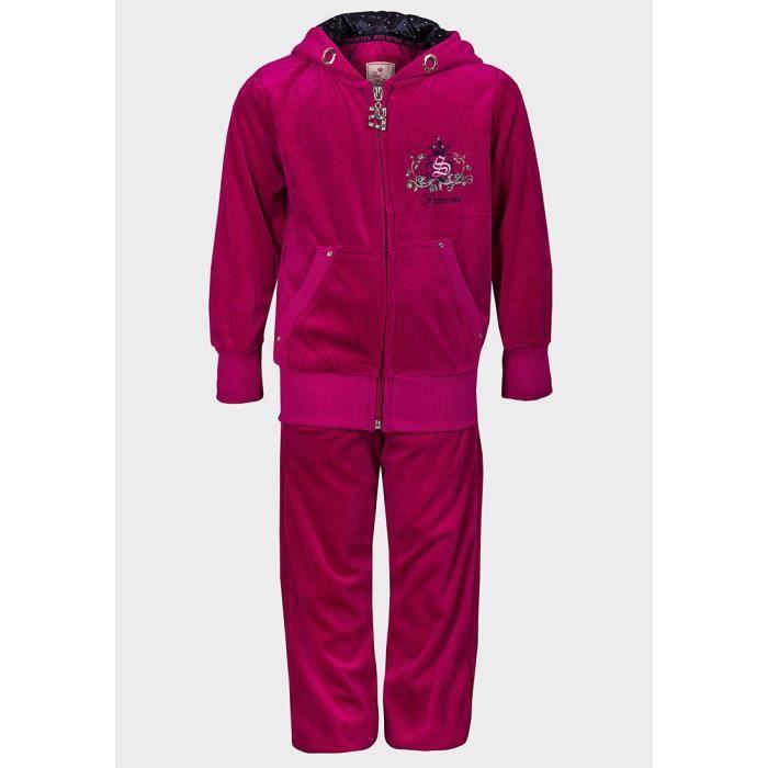 52c1235042e26 Survêtement velours enfant fille 14 ans pantalon jogging et veste à capuche  rose princess strass vêtement de sport ou détente