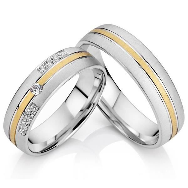 Ensemble bague de fiancaille homme et femme