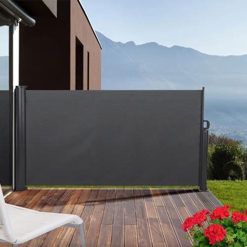 pare vent retractable pour terrasse 3 x 1 4 m achat. Black Bedroom Furniture Sets. Home Design Ideas