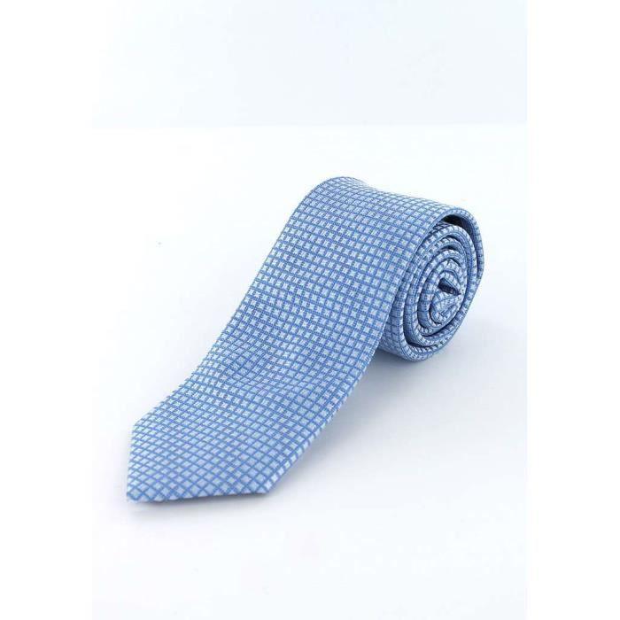 054a99021b41 Cotton Park - Cravate en soie ciel carrés gris - Homme Gris - Achat ...