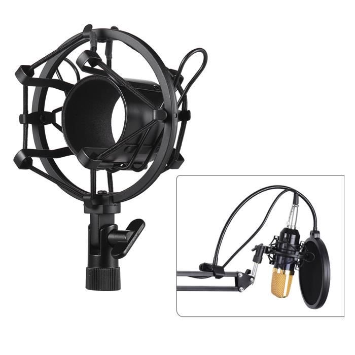 Muslady Support De Fixation Pour Amortisseur Microphone À Condensateur Univerdal En Métal Bracket Anti-vibration