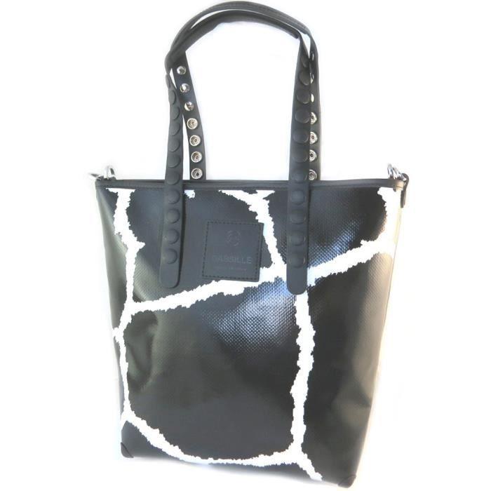 Sac créateur Gabs noir blanc (M) - 34x30x11 cm [P1564]