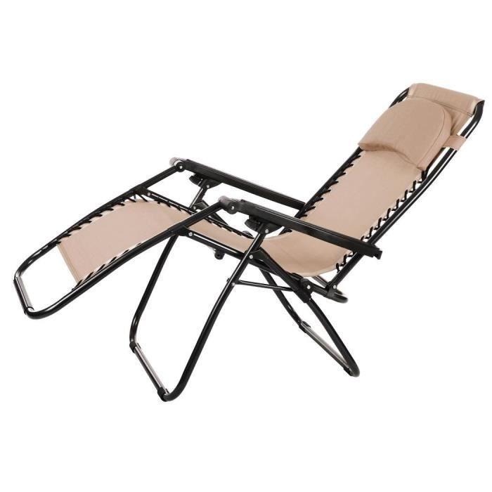 Chaise De Pour Plein Camping Pliant Longue Plage En Jardin BoQWrCdExe