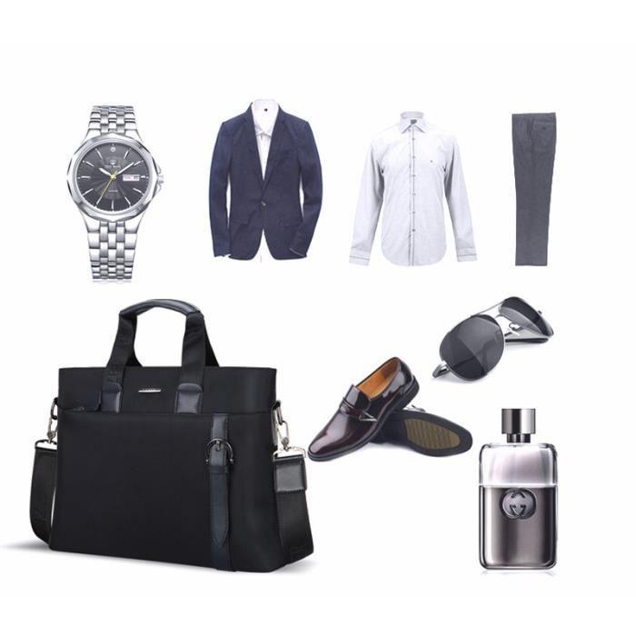 sac de toile d affaire sacoche homme de marque luxe serviette attach case homme porte. Black Bedroom Furniture Sets. Home Design Ideas