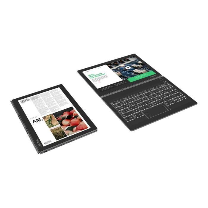 Lenovo Yoga Book C930 ZA3S Tablette conception inclinable Core i5 7Y54 -  1 2 GHz Win 10 Familiale 64 bits 4 Go RAM 256 Go SS40