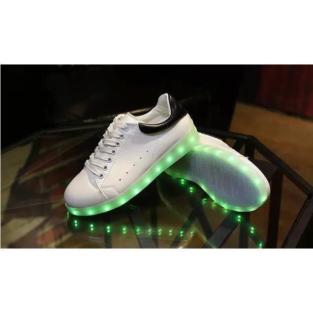 Femme Chaussures de recharge USB LED clignotant...