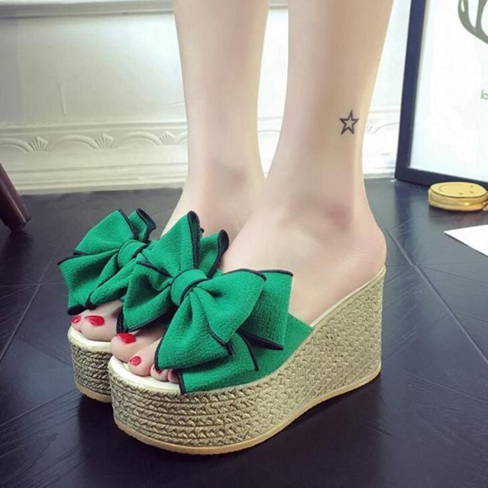 GLAM® Sandales femme sandales à talons épais sandales reQa2l7Yuc