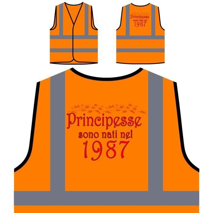 Orange Princesses les Veste De À Haute Nées Personnalis Sont 1987 Visibilité Personnalisée En Protection Fxq80AnqE