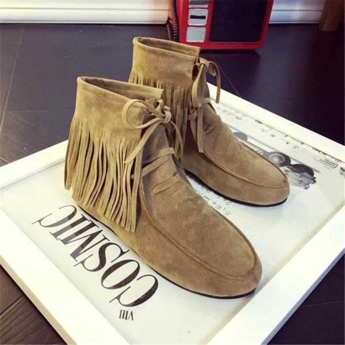 Bottine Femmes Qualité Supérieure Nouvelle arrivee Bottines résistantes à l'usure Poids Léger Chaussure Classique Plus Taille 36-40