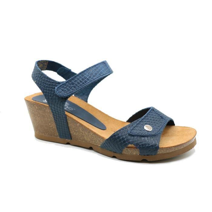 Femme - Sandale bios - YOKONO - YOKONO CADIZ-073 - Azul marino - (40)