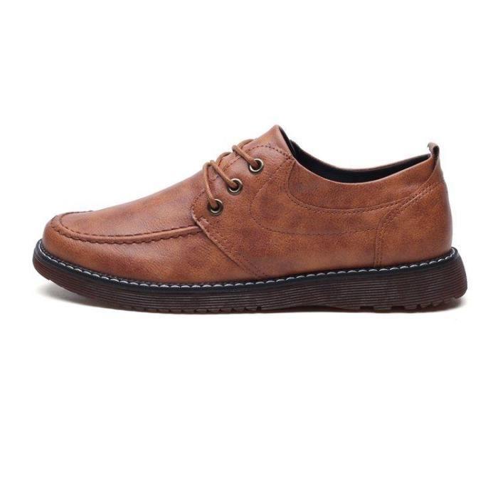 DERBY Chaussures En Cuir DéContracté Homme Respirant Cou