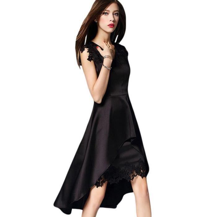 Fine-Robe Soirée Mi-Longue Femme Slim Fit Robe Sexy Femme Vintage Mode  --Boutique Hugo--2 COULEURS