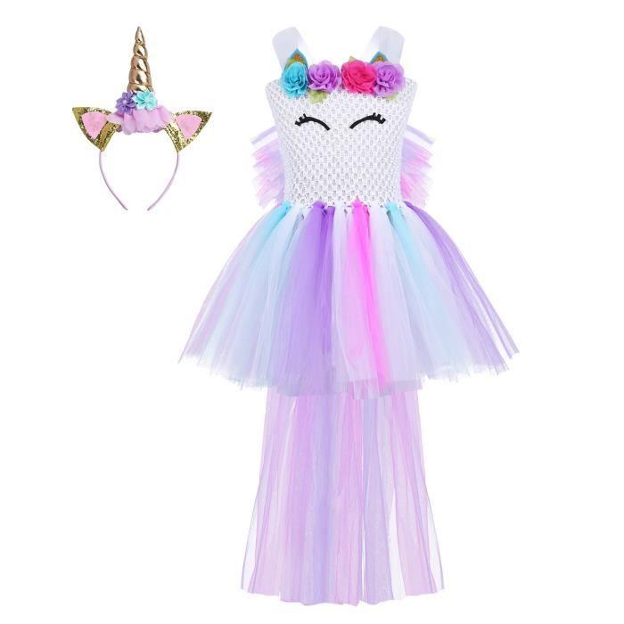 Déguisement Licorne Robe Princesse Pour Enfant Fille 2 12 Ans