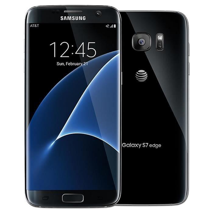 samsung galaxy s7 edge noir 32go achat smartphone pas cher avis et meilleur prix cdiscount. Black Bedroom Furniture Sets. Home Design Ideas