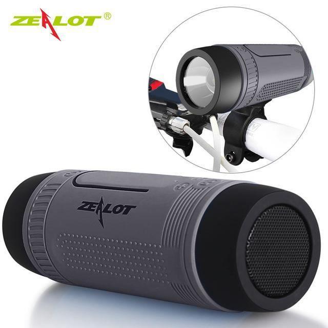Zealot S1 Vélo Subwoofer Portable Puissance Sans Fil Téléphone Mobile Lumière Led Cadre De Mousqueton -gray