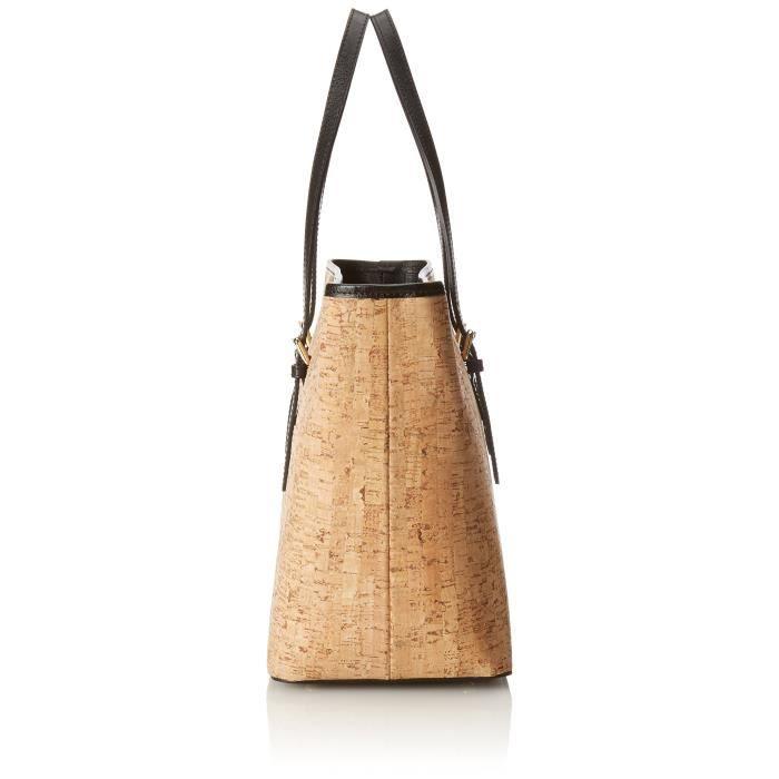 Sac à main Ctm femme en cuir véritable Made In Italy Cork Coated - 42x30x17 cm 1KE71H