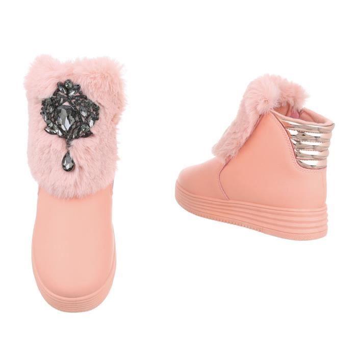 femmes hiver bottillon   hiver bottes doublé   épais doublée Bottes de neige   Art fourrure hiver Boots   la laque Fell bottes  