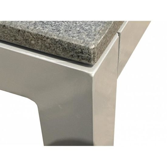 Table de jardin aluminium - plateau granit 180 cm - Torino - Achat ...