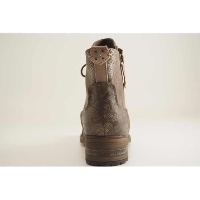MUSTANG SHOES-1229 506-BOOTS-MARRON