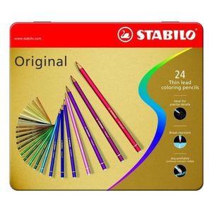 STABILO Boîte métal x 24 Crayons de couleur Original