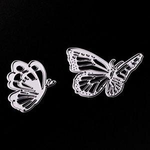 GABARIT DE DÉCOUPE Deux papillons danse Métal Coupe Dies Stencil bric