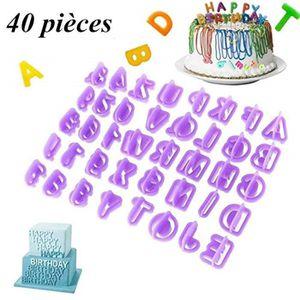 EMPORTE-PIÈCE  Emporte-pièces Alphabets, Moule Chiffres, Lot de 4