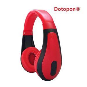 CASQUE - ÉCOUTEURS Dotopon®(RED)Smart Consumer Electronics Communémen