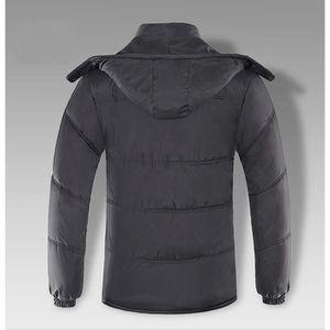 MANTEAU - CABAN Manteau Longue Avec Capuche Grande Tail Noir Amovi ... a0de5bcefd1