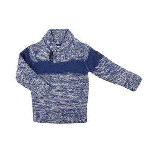 PULL Pull en tricot col V - garçon - bleu
