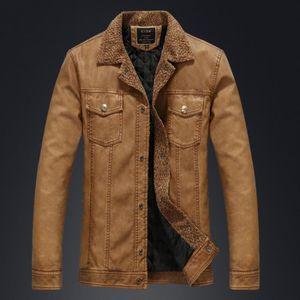 dd636fc0c8b1 VESTE GLAM®Veste en cuir manteau homme plus velours épai