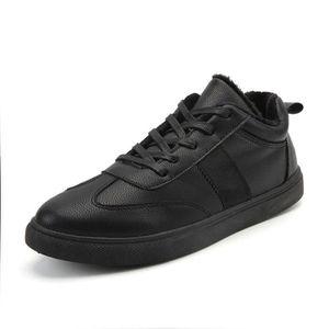 ... Redoute, Sneaker Hommes Confortable Nouvelle Chaussure Mode Couleur  unie Noir Gris Beau Sneakers Classique Doux Respirant 39 81552c2aaae3