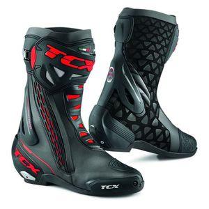 CHAUSSURE - BOTTE Bottes moto - TCX RT-RACE Noir/Rouge - 40