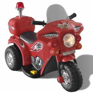 VOITURE ENFANT Moto à chevaucher sur piles Rouge