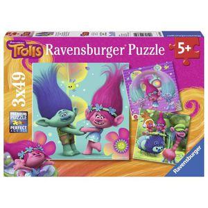 PUZZLE TROLLS Puzzle Le Monde Multicolore 3x49 pcs