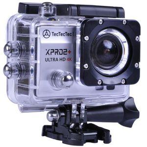 PACK CAMERA SPORT TECTECTEC XPRO2+ ARGENT: Caméra Sport Ultra HD 4K