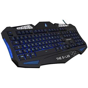 CLAVIER D'ORDINATEUR The G-Lab KEYZ200-N-UK, Clavier gaming QWERTY Angl