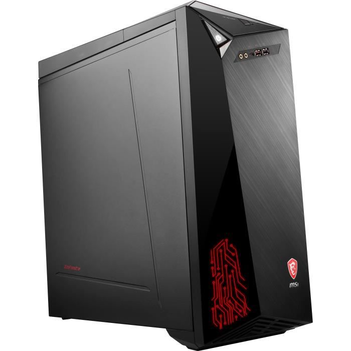 Unité Centrale Gamer - MSI Infinite 8RC-649FR - Core i7-8700 - RAM 8Go - Stockage 2To HDD + 128Go SSD - GTX 1060 6Go - Win 10