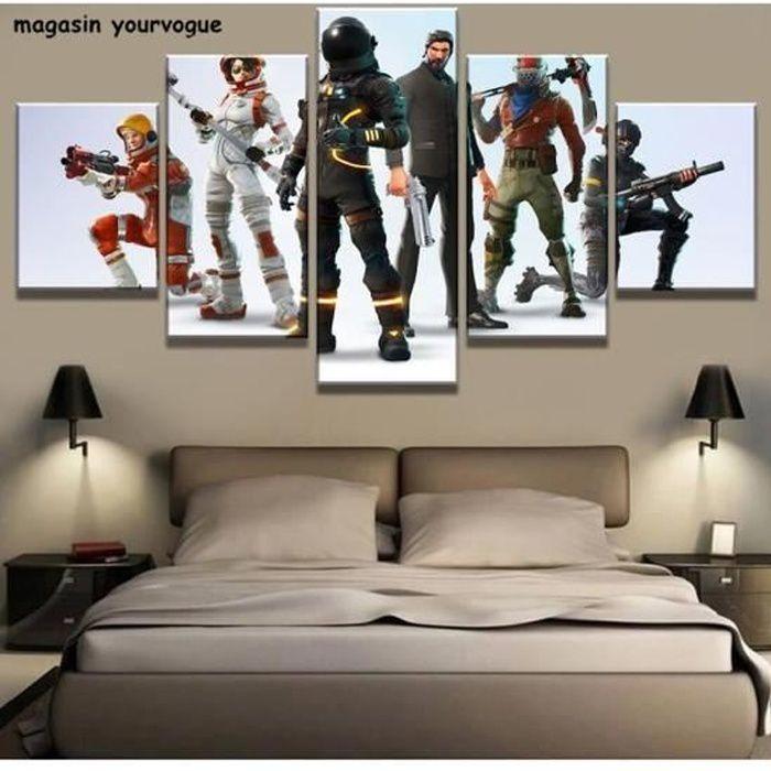 Tableau fortnite art battle royale 1 5 piece sans cadre fortnite jeu jeu poster cuadro