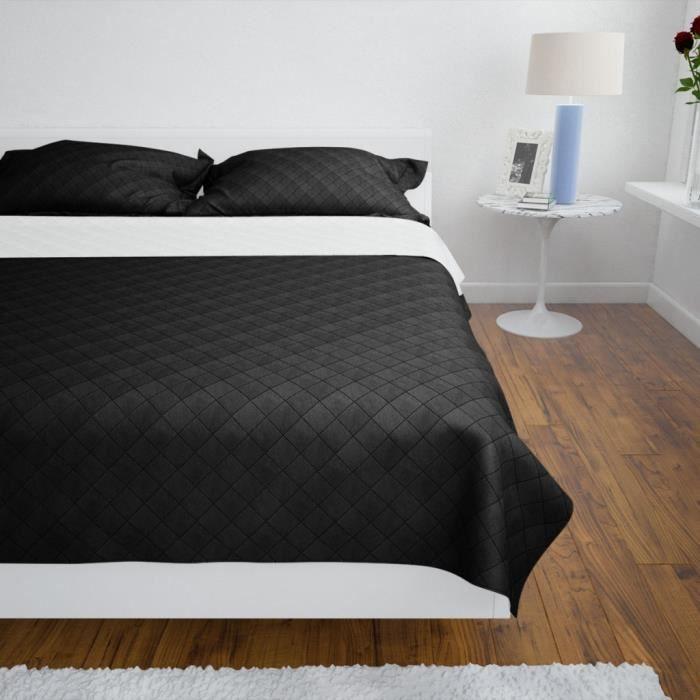 magnifique couvre lit Magnifique Couvre lits a double cotes Noir/Blanc 220 x 240 cm  magnifique couvre lit