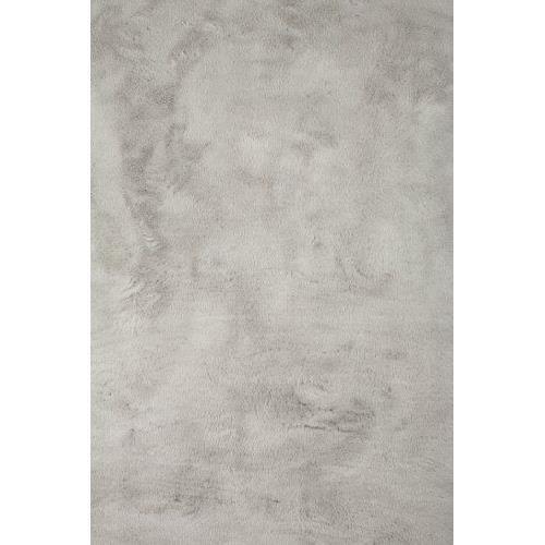 Tapis contemporain pilepoill - gris clair 140 x 200 cm - fausse ...