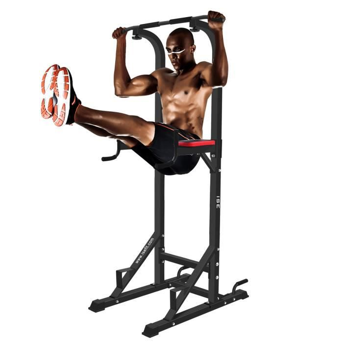 ISE Chaise Romaine Station Traction Dips Multifonctions Barre De Banc Musculation Power Tower SY 5607