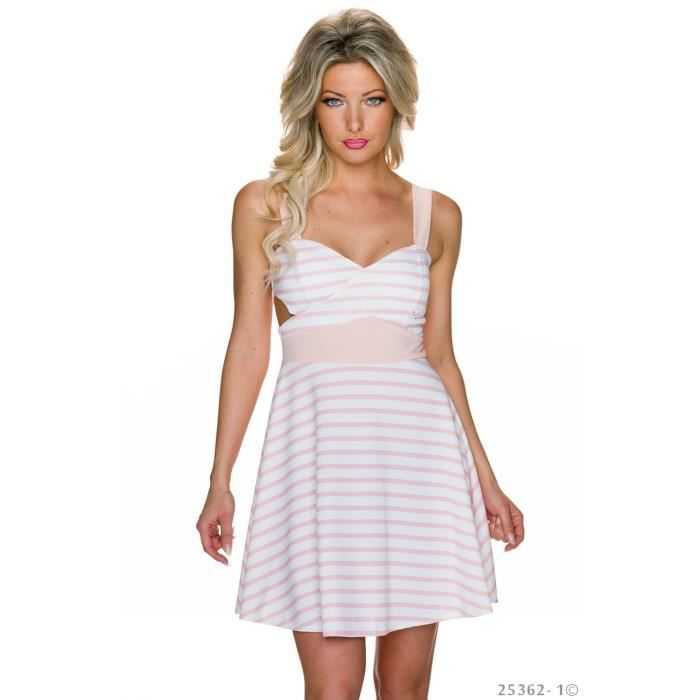 robe dos nu blanche rose sexy femme