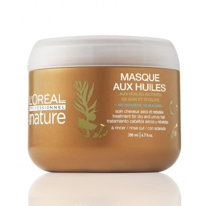 masque aux huiles cheveux secs & rebelles 200ml - achat / vente